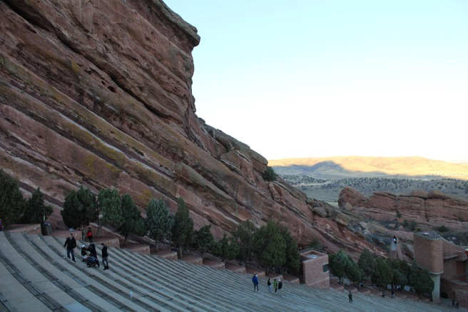 The Red Rocks Amphitheater in Denver, Colorado